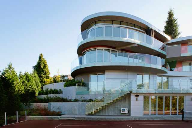 Large, modern home in Vancouver, BC.